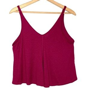 Intimately Free People Burgundy Tank Top Sz Small